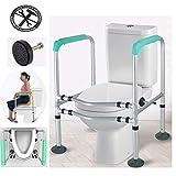 WENTAO WC-Haltegriffe Rahmen WC-Einfassung Gepolsterter Bad-Handlauf mit Einstellbarer Höhe 6 für ältere Behinderte Geschenk Maximales Benutzergewicht 190 kg,1piece