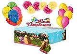 DECORATA PARTY Set Addobbi e decorazioni compleanno fai da te personaggi assortiti (Masha e Orso)