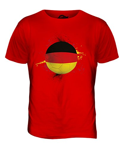 CandyMix Deutschland Fußball Herren T Shirt Rot