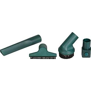 Alternativ-wie Vorwerk 6690053067 Düsenset, passend für diverse Modelle, bestehend aus Fugendüse, Möbelpinsel, Polserdüse und Wappanschlußadapter