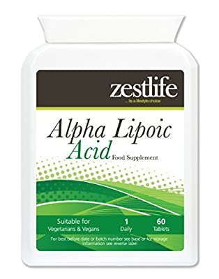 Zestlife Alpha Lipoic Acid 200mg * On Special Offer* 60 Tablets This powerful antioxidant promotes normal cellular energy, defends cells against oxidative damage casued by free radicals.