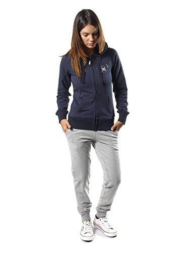Leone 1947 apparel sport fight activewear lw1495, tuta donna, blu/grigio melange, s