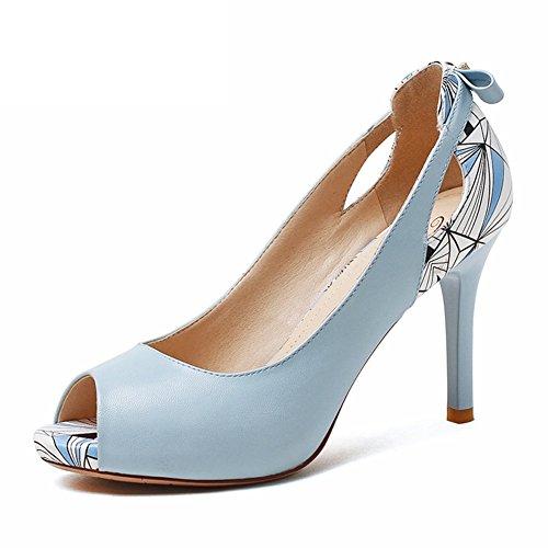 Summer chaussures dames légères tête ronde et chaussures à plate-forme bow talon/Les petites chaussures imperméables noeud avec des papillons C