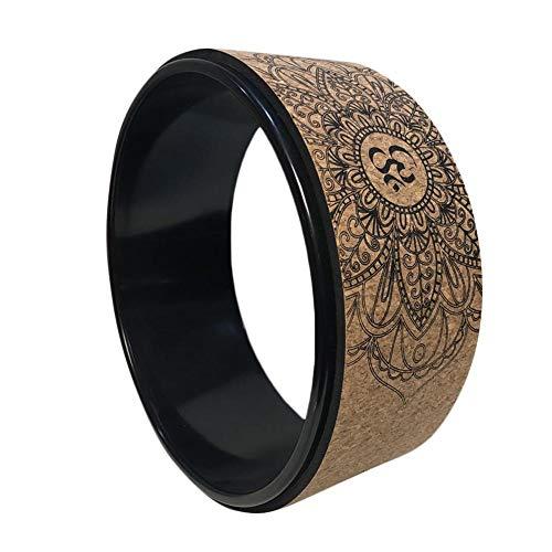 Kathariiy Natürliches Kork Sport Dharma Yoga Rad – Stretch Yoga Kreis Pilates Ring zur Verbesserung der Yoga-Haltung…
