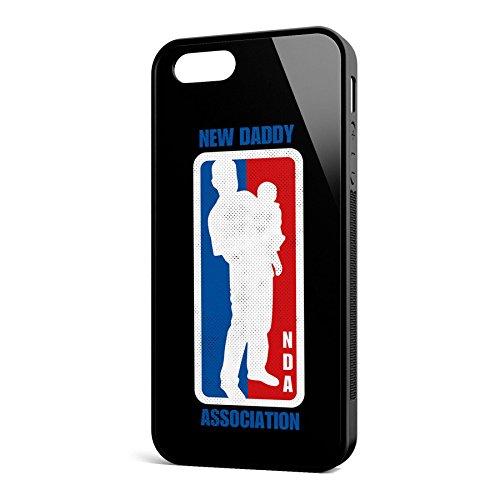 Smartcover Case NDA New Daddy z.B. für Iphone 5 / 5S, Iphone 6 / 6S, Samsung S6 und S6 EDGE mit griffigem Gummirand und coolem Print, Smartphone Hülle:Samsung S6 EDGE weiss Iphone 5 / 5S schwarz
