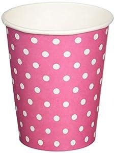 Neviti 677859Carnaval taza, diseño de lunares, color rosa