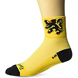 Sockguy Classic - Calcetines, Unisex, Color Lion of Flanders Yellow/Black, tamaño S/M