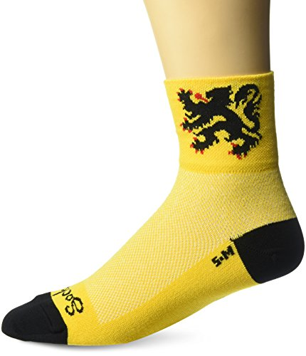 SockGuy Classic Socken L Lion of Flanders Yellow/Black
