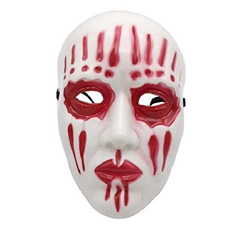 FENGZ Halloween Maske Mask Masken Kreative Halloween Scary Requisiten Party Masken Cosplay Kostüm Party Supply Vollgesichtsmaske,Red