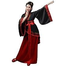 87edec6cf DAZISEN Ropa de Mujer Traje Tang - Traje Tradicional de Estilo Chino  Antiguo Vestidos de Hanfu