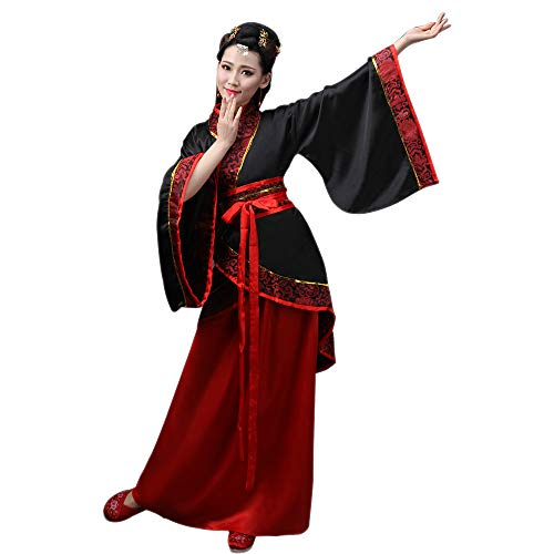 ZEVONDA Femmes Classique Costume Tang Costume Traditionnel Chinois Ancien Hanfu Robes Spectacle Performances Cosplay, Style-1/XL