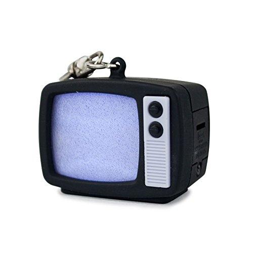 Preisvergleich Produktbild Retro TV Schlüsselanhänger mit Licht und Sound - Fernseher Schlüssel Ring TV-Gerät Schlüsselring Nostalgie