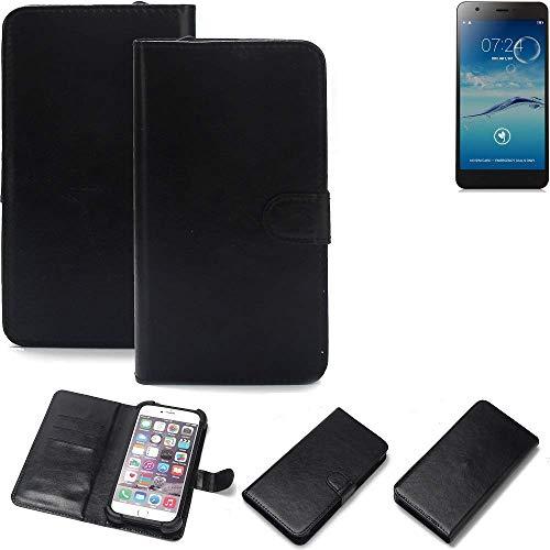K-S-Trade Wallet Case Handyhülle für Jiayu S3+ Schutz Hülle Smartphone Flip Cover Flipstyle Tasche Schutzhülle Flipcover Slim Bumper schwarz, 1x