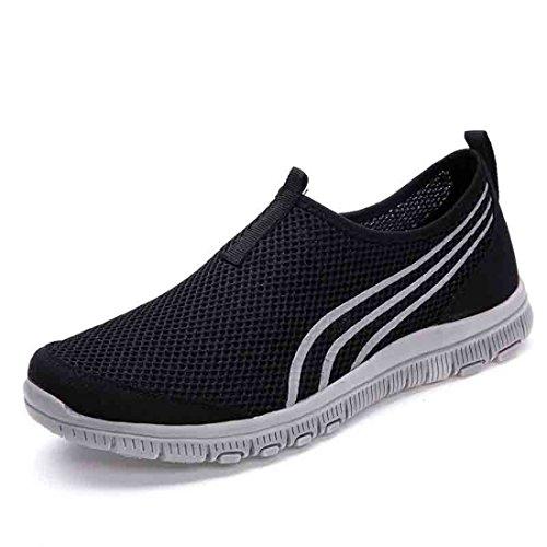 Men's Breathable Black Outdoor Light Running Shoes Black