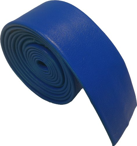 100% Leder Schmale Krawatten - Verschiedene Farben (Königsblau) (Leder Kinky)