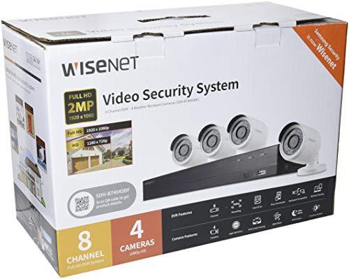 Samsung sdh-b74043bf-kit vidéo Surveillance avec Enregistreur (8canaux et 4Caméras) Blanc