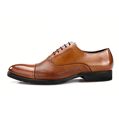 Scarpe Da Uomo Marrone Sottili Slip On Business Casual Moda In Scarpe Pelle Wedding Autunno nero Dress Marrone d6Fw5xqxZa