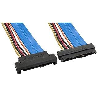 Amphenol CS-SASSASEXT2-000.5 Internal SAS to SAS Extender Cable, SFF-8482 Male/Female, 0.5 m, 1.6', Blue