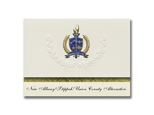 Signature Ankündigungen New Albany (/S. tippah/Union County (Alternative (New Albany (, MS) Graduation Ankündigungen, Presidential Elite Pack 25W/Gold & Blau Folie Seal