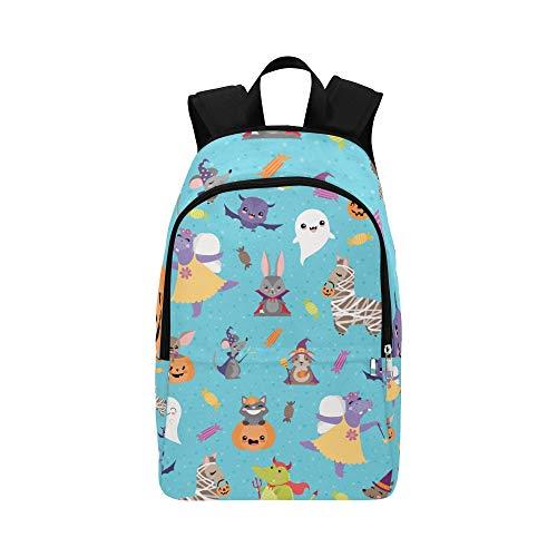 Cute Hippopotamus mit Tieren Casual Daypack Reisetasche College School Rucksack für Männer und Frauen