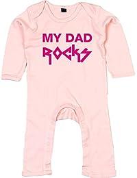 I LOVE ROCK  Einzelknoten Babymütze weiß