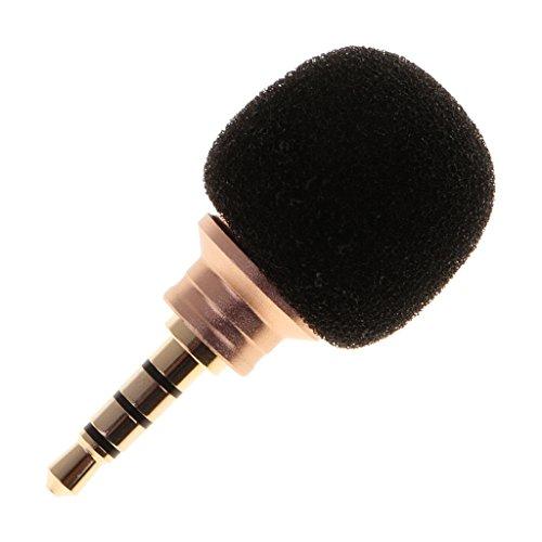 MagiDeal Mini Kondensator Mikrofon Richtmikrofon Geräte mit (3,5mm) Ausgang für Smartphone & Handy - Stereo