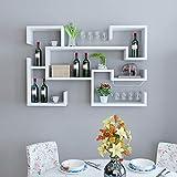 Casier à vin - Personnalité de modélisation support de vin ménage placard restaurant bouteille affichage présentoir étagère murale Felice Home (Couleur : Blanc, taille : 150 × 20 × 90cm)