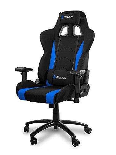 Arozzi inizio silla Gamer, tejido, azul, 53x 47x 133cm