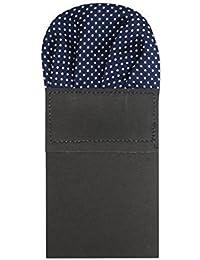 Robelli Deluxe Satin Pre Folded Pocket Squares - Polka Dot Detailing