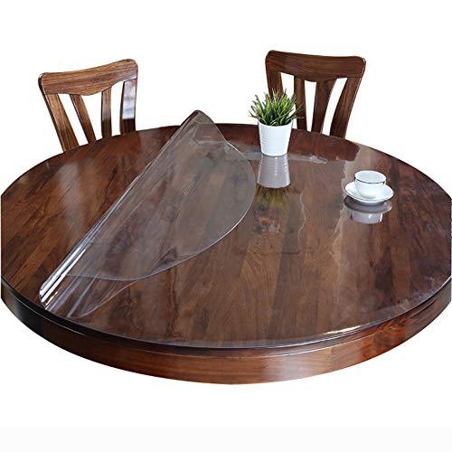 KSWD PVC Transparente Manteles de Mesa