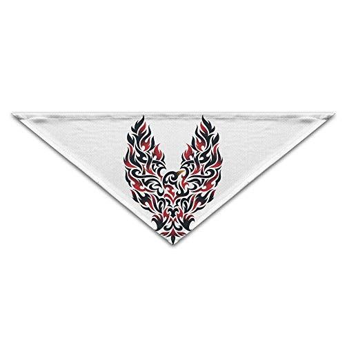 Sox Tattoo (Hipiyoled Fire Owl Bird Tribal Tattoo Dog Bandanas Scarves Triangle Bibs Scarfs Funny Basic Neckerchief Cat Collars Pet Costume Accessory Kerchief Holiday Birthday Gift)