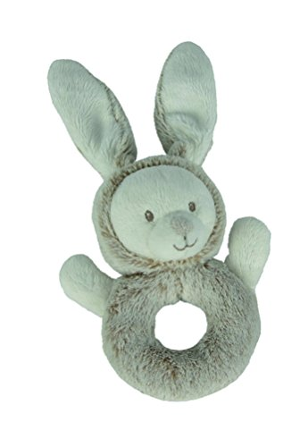 Simba 6305793855 - Nicotoy Baby Ringrassel Hase Laline 25 cm grau Preisvergleich