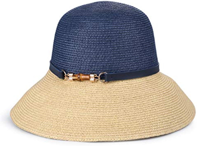 Hinyyee Estate Cappello di paglia Donne Cappello da sole Cucitura solare  Vacanza Prossoezione solare Cucitura Cappello 2a9139199429