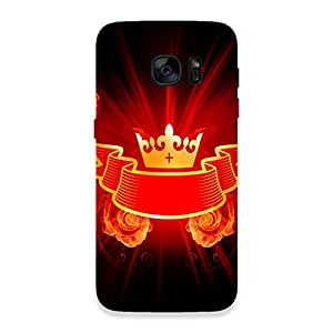 GripIt Crown From Fire Back Cover for Samsung Galaxy S7 Edge