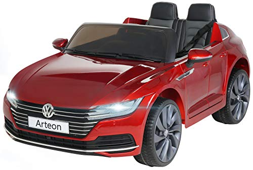inder Elektroauto VW Arteon - Lizenziert - 2 x 45 Watt Motoren - 2,4 Ghz Fernbedienung - Eva Reifen - Multimedia Touch Display (Chilirot Lackiert) ()