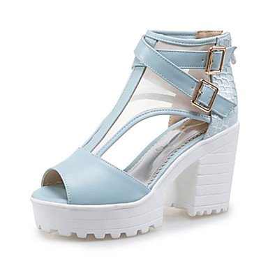LvYuan Da donna-Sandali-Matrimonio Formale Casual-Altro Innovativo Club Shoes-Quadrato-Materiali personalizzati Finta pelle-Nero Blu Rosa Bianco Light Blue