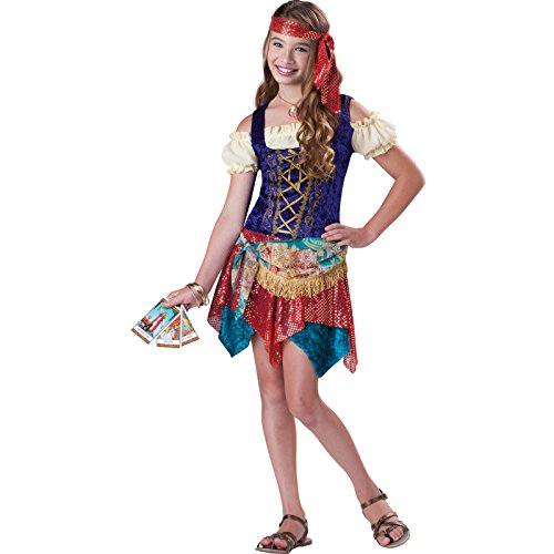 Deluxe Gypsy Fancy Kleid Halloween-Kostüm (Party Kleider-tweens)