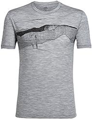 Icebreaker Mens Tech Lite SS Crewe Spanish Plunder T-Shirt Herren Wanderrucksack