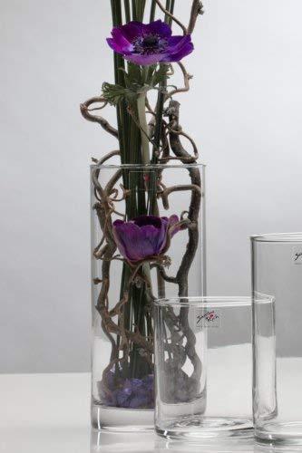 Sandra Rich Vase, rund, 9x 20 cm (Durchmesser x Höhe) e. 12