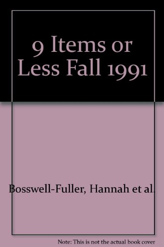 9 Items or Less Fall 1991
