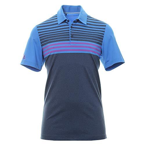 Adidas Golf Shirt Blau (adidas Herren Ultimate 365 3 - Stripes Hather Polo Shirt Poloshirt Blau (Azur/Morado Dw9175) Small)