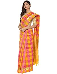 CLASSICATE From the house of The Chennai Silks Multicolor Traditional Silk Saree (CCMYSS10391 - Yellow & Pink)