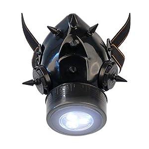 MB-Müller 87323-001-000 - Máscara de gas con pinchos UV y luz LED, unisex, color negro