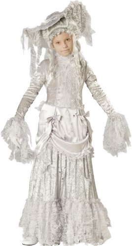 InCharacter Costumes, LLC Little Girls' Ghostly Lady Tattered Dress Set, White, ()