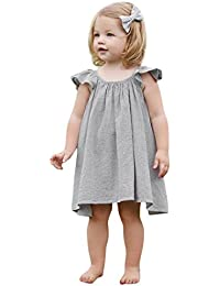 Vestido Para Bebé NiñAs DRESS Start® Vestido A Rayas Sin Mangas De Cuello Redondo Vestido Barato De Princesa Fiesta Infantil Elegant Ropa…