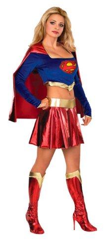 Rubie 's Offizielles Damen Supergirl Erwachsene Kostüm Top und Rock–Kleine