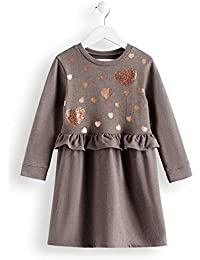 RED WAGON Mädchen Kleid Grey Marl Sweat Dress