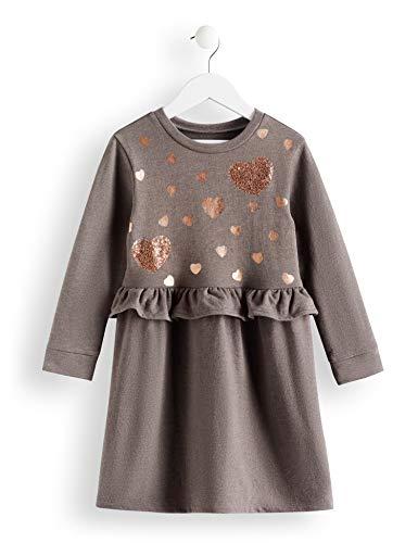 RED WAGON Mädchen Grey Marl Sweat Dress Kleid, Grau, 122 (Herstellergröße: 7)