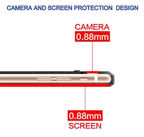 Coque iPhone 7, J&D [Poids Léger] Coque Fine de Protection Antichoc de TPU pour Apple iPhone 7 - Noir Noir