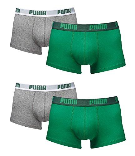Puma Herren Boxershorts Unterhosen 521025001 4er Pack, Wäschegröße:XL;Artikel:-075 Amazon Green/Grey  -
